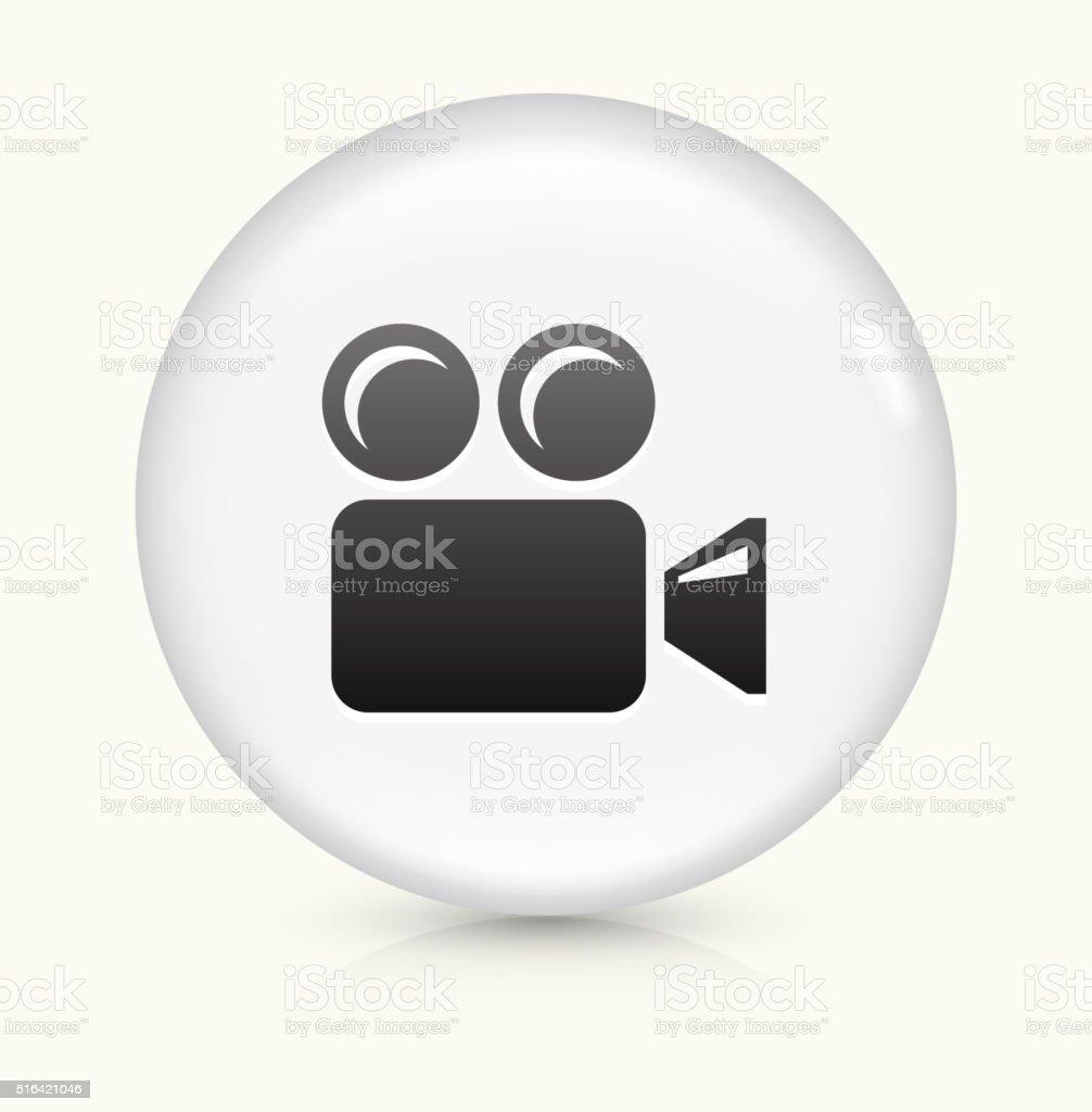 Film Camera icon on white round vector button vector art illustration