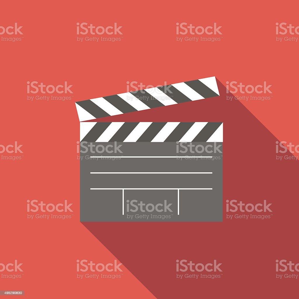 Film flat icon vector art illustration