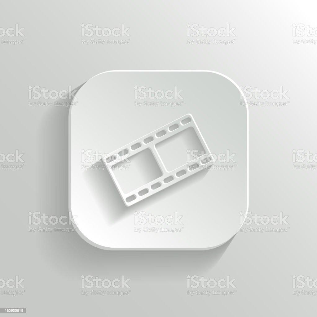 Film icon - vector white app button royalty-free stock vector art
