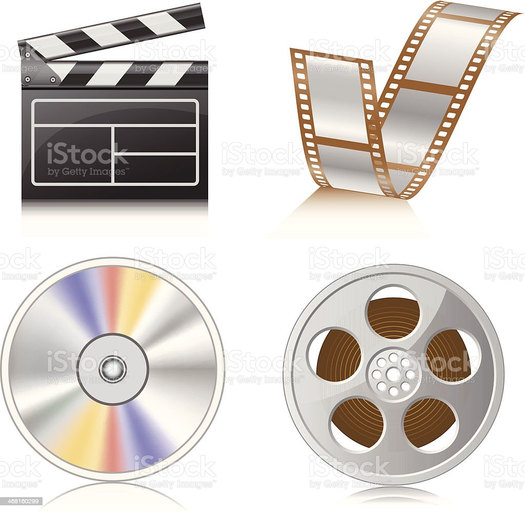 Film Icons royalty-free stock vector art