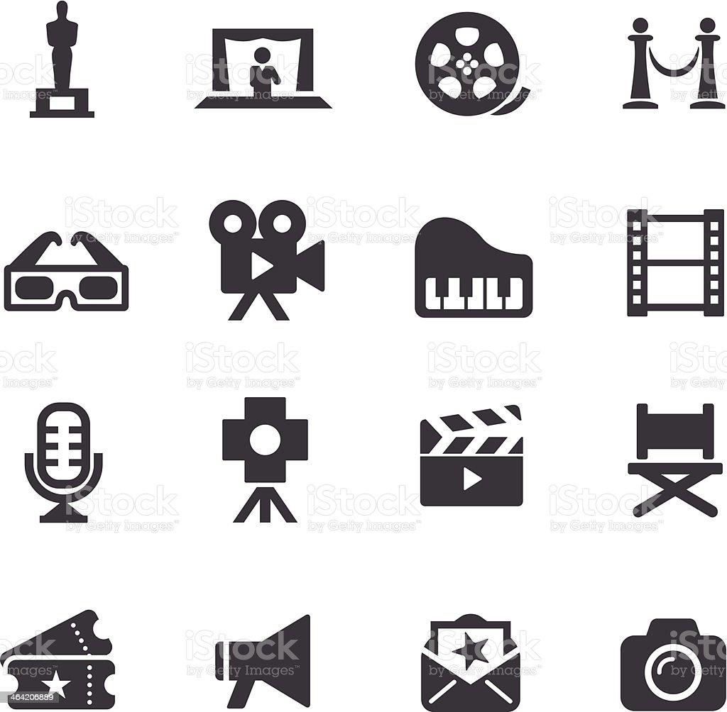 Film Industry Icons - Acme Series vector art illustration