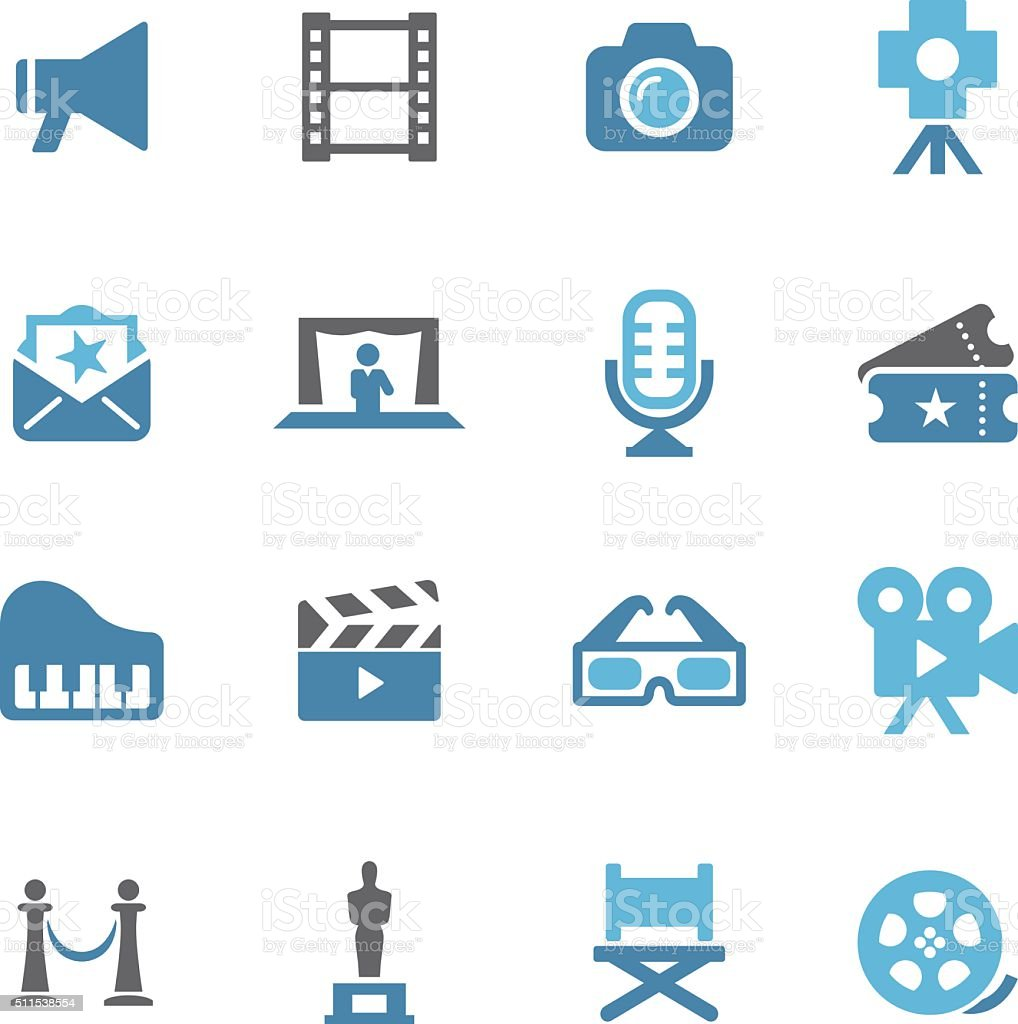 Film Industry Icons - Conc Series vector art illustration