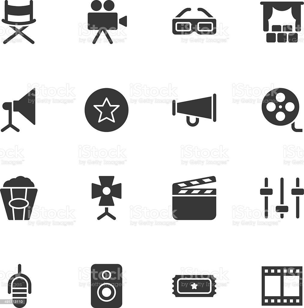 Film Industry icons - Regular vector art illustration