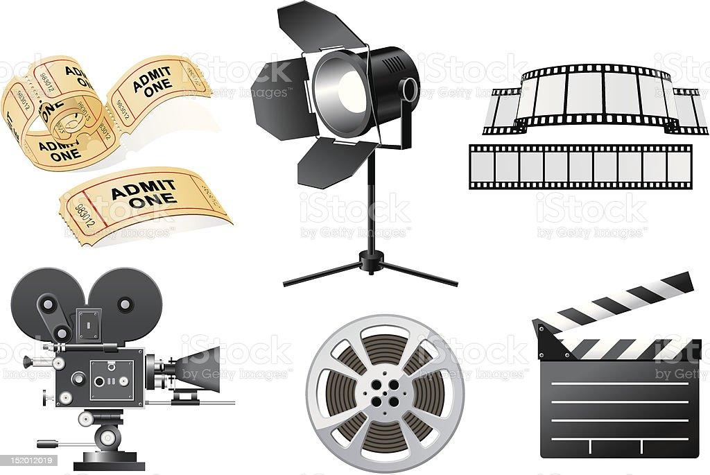 Film Industry vector art illustration