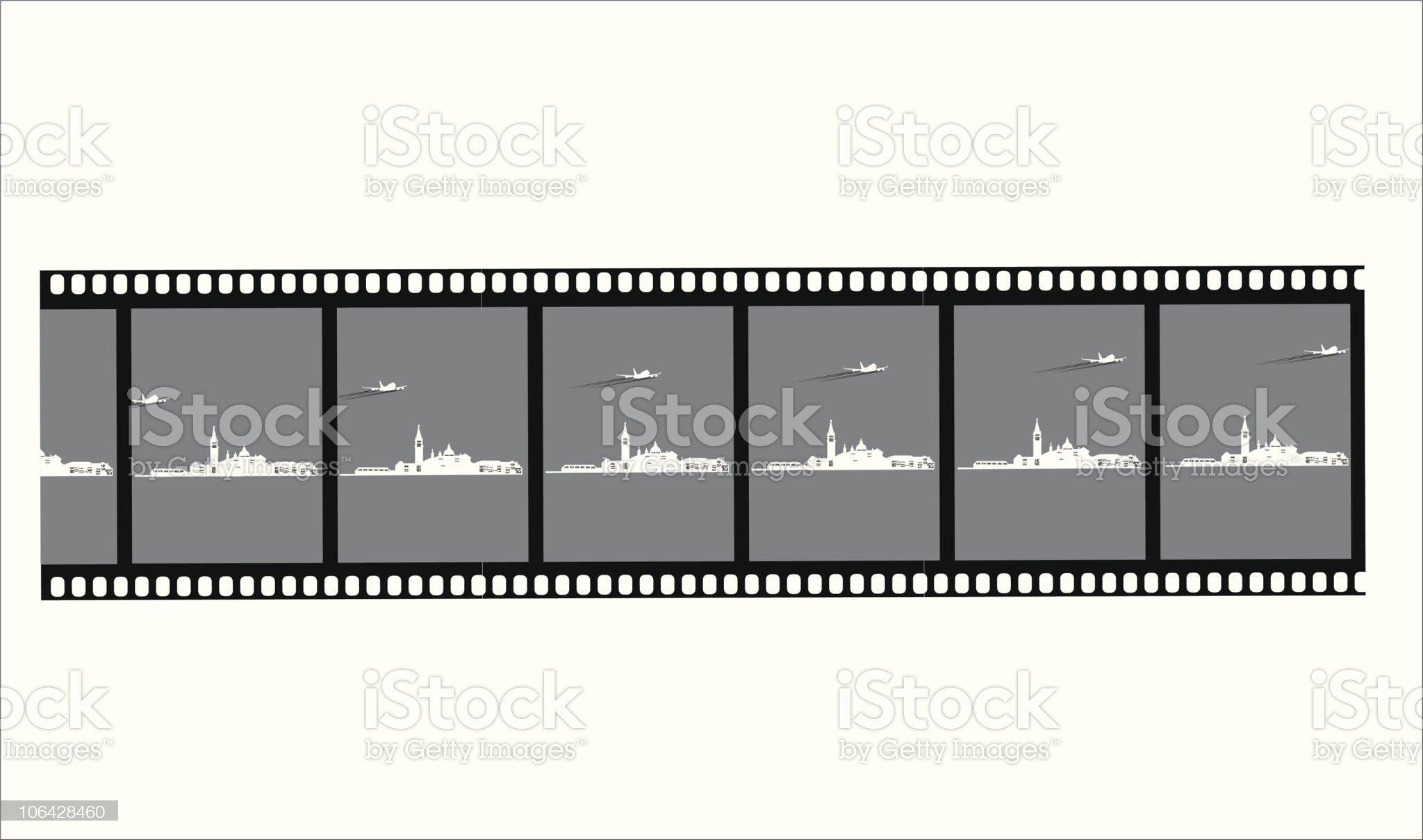 FIlm negative of venice royalty-free stock vector art