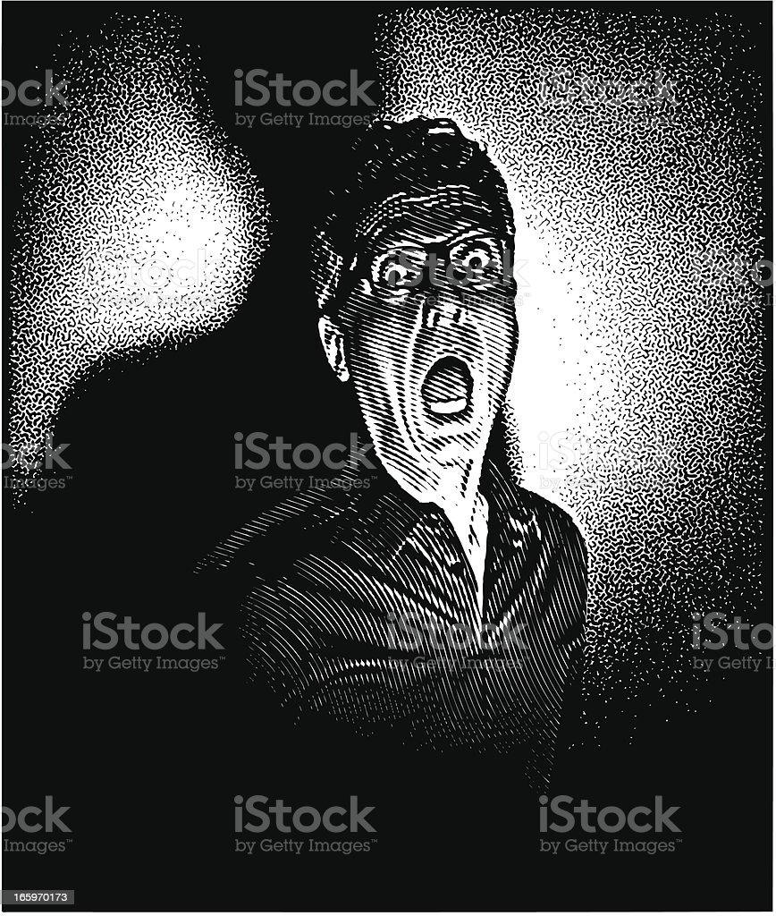Film Noir Scream royalty-free stock vector art