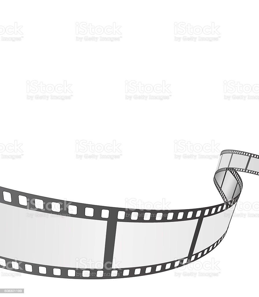 film reel background vector art illustration