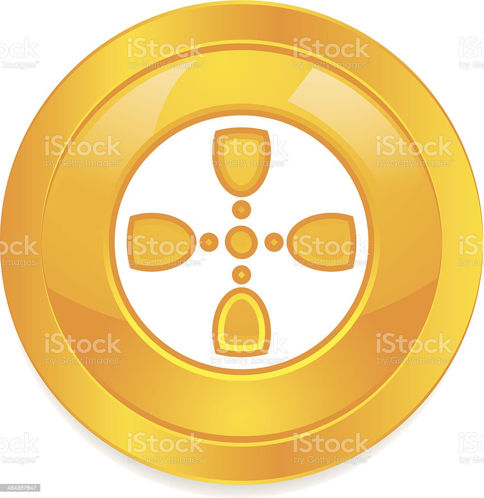 Film Reel Button royalty-free stock vector art