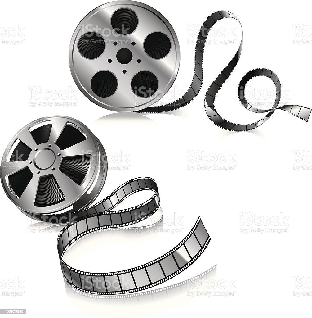 Film Reel royalty-free stock vector art