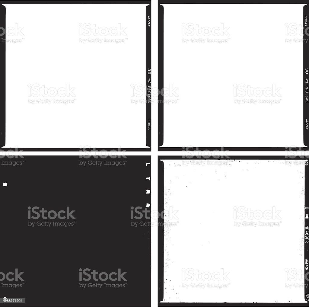 film scans medium format square trace vector art illustration