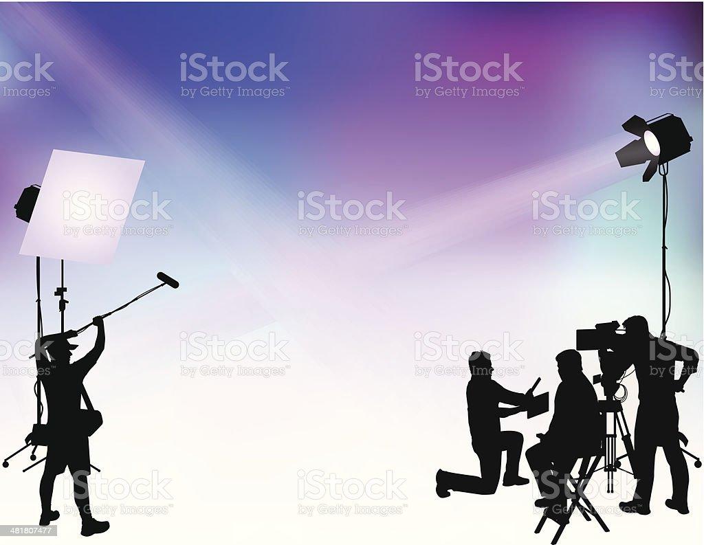 Film Shoot vector art illustration