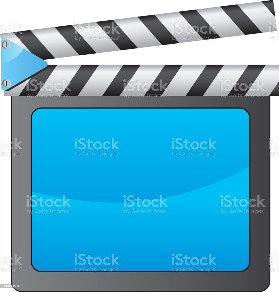 Film Slate - Illustration vector art illustration