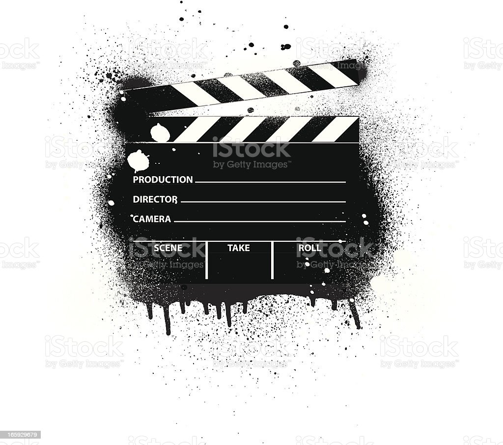 Film Slate | Spray Paint royalty-free stock vector art