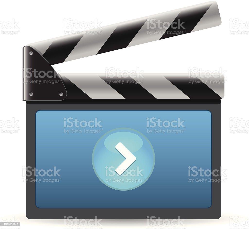 Film Slate royalty-free stock vector art
