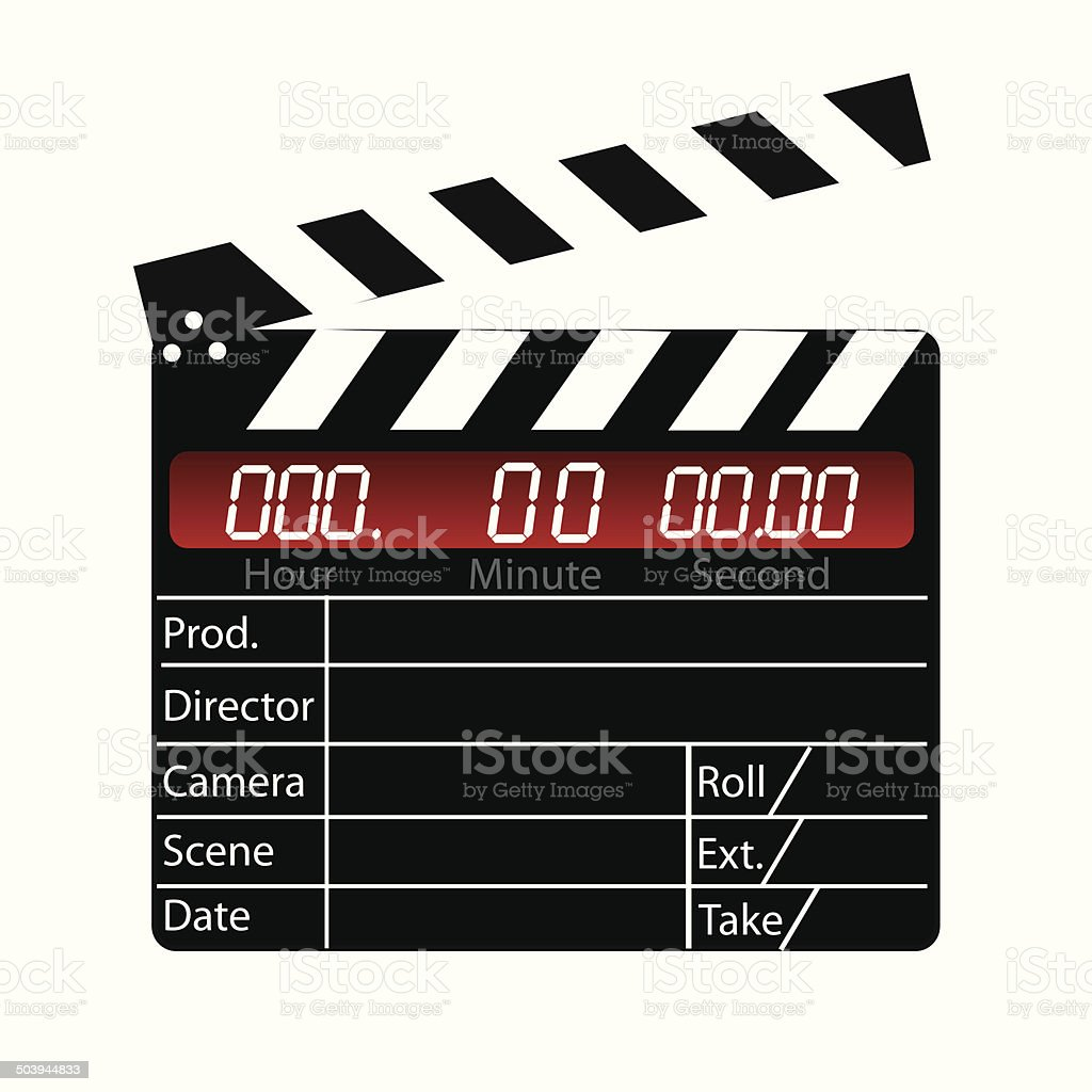 Film Slate vector art illustration