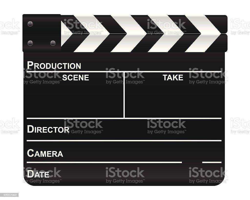 film slate vector art illustration