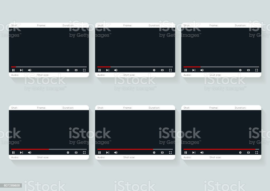 Film Storyboard Template Video   Design Stock Vector Art