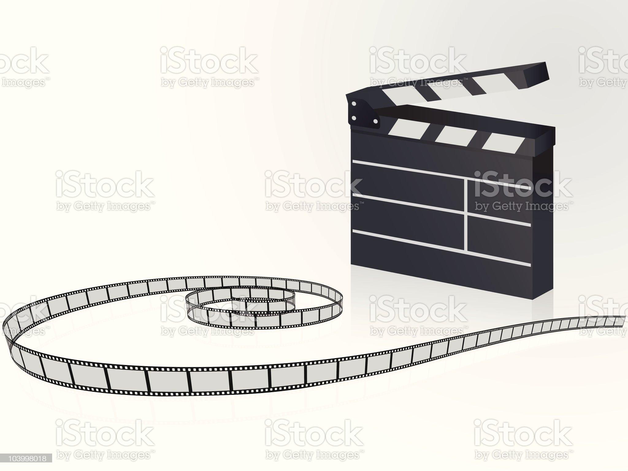 Film strip background royalty-free stock vector art