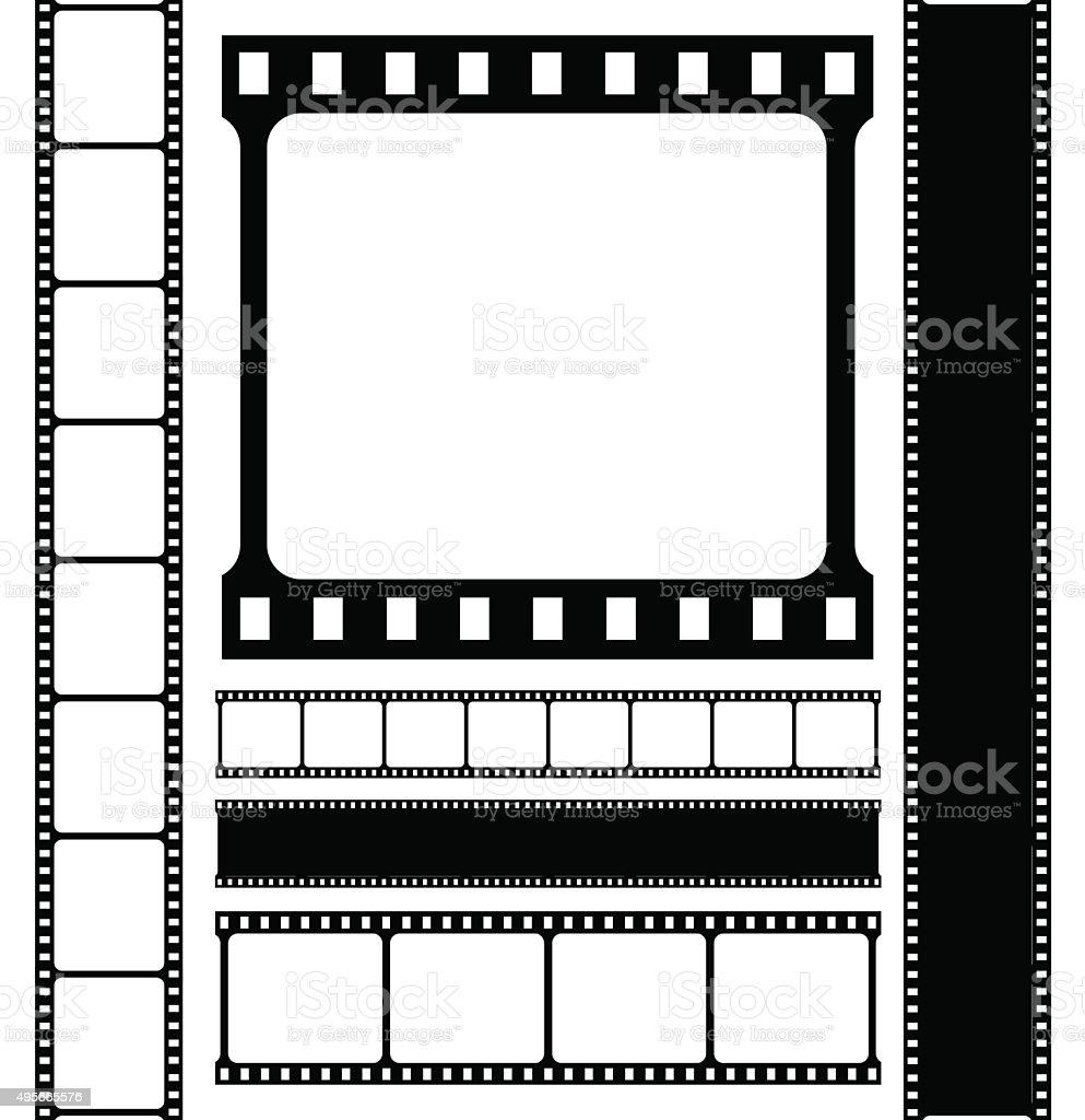 Film strip set. vector art illustration