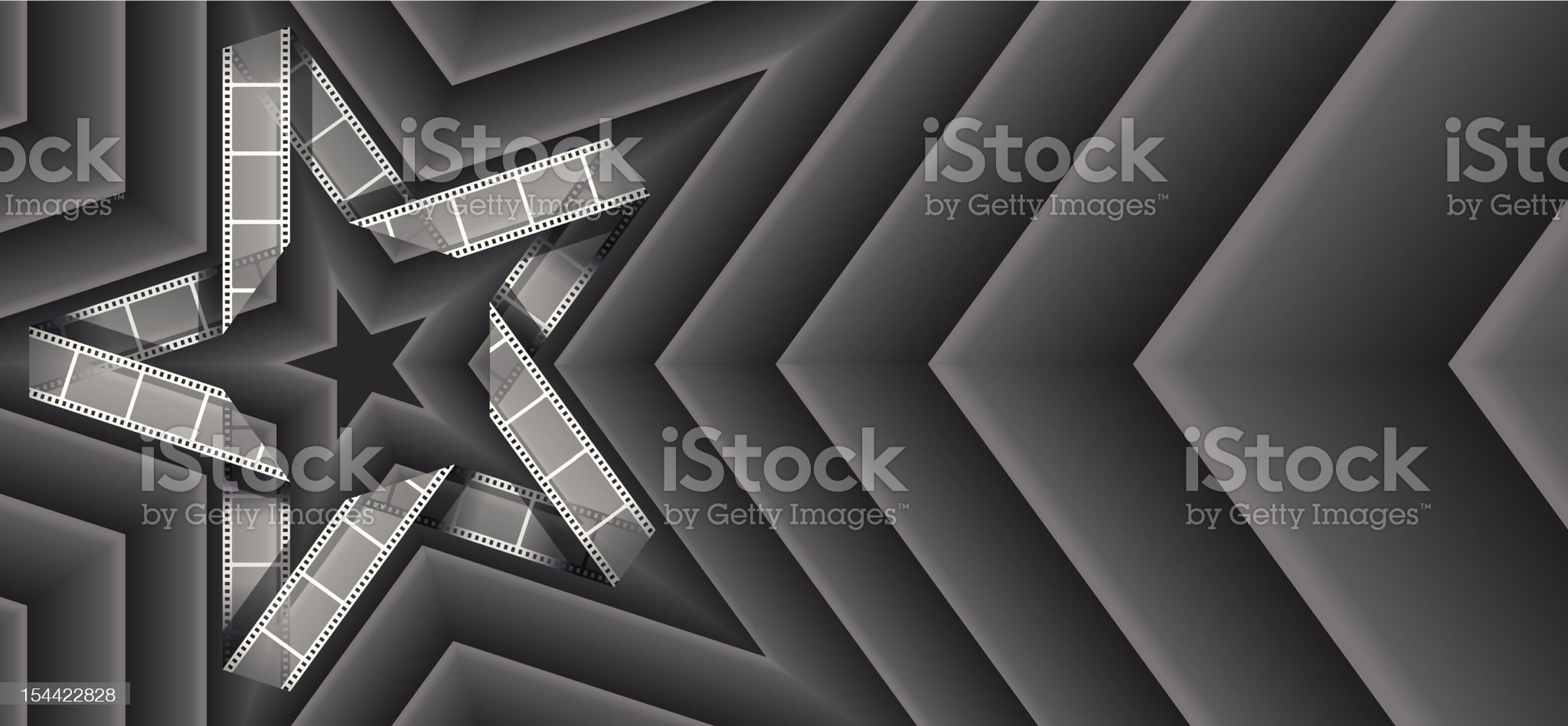 Film strip star royalty-free stock vector art