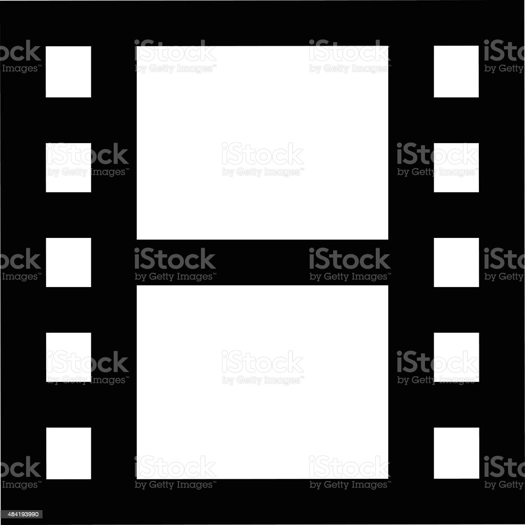 Film Strip Vector Icon vector art illustration