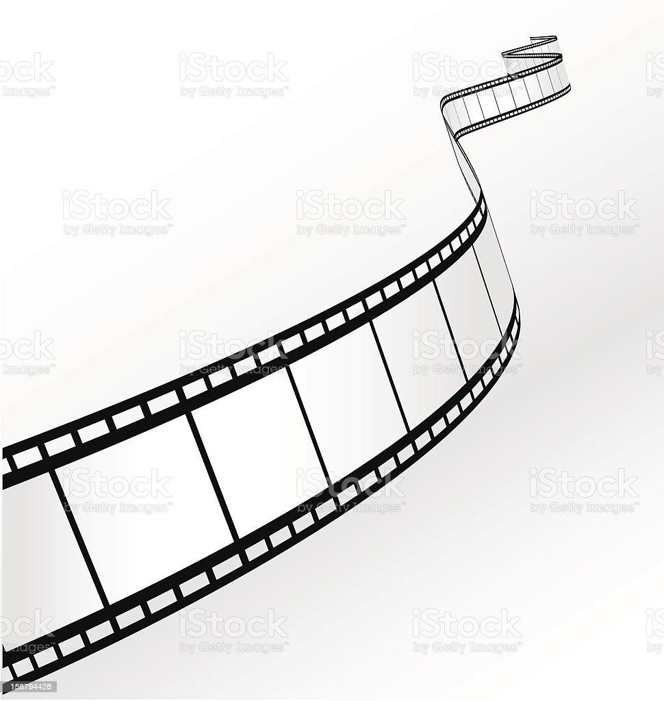 film strip vector art illustration