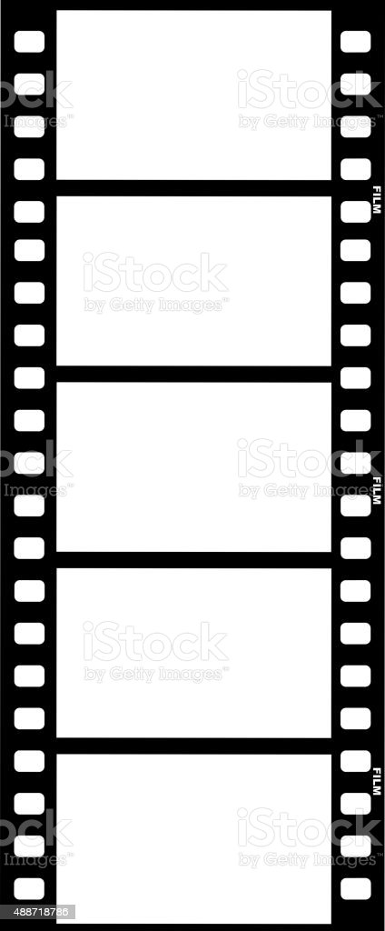 film strip vector art illustration