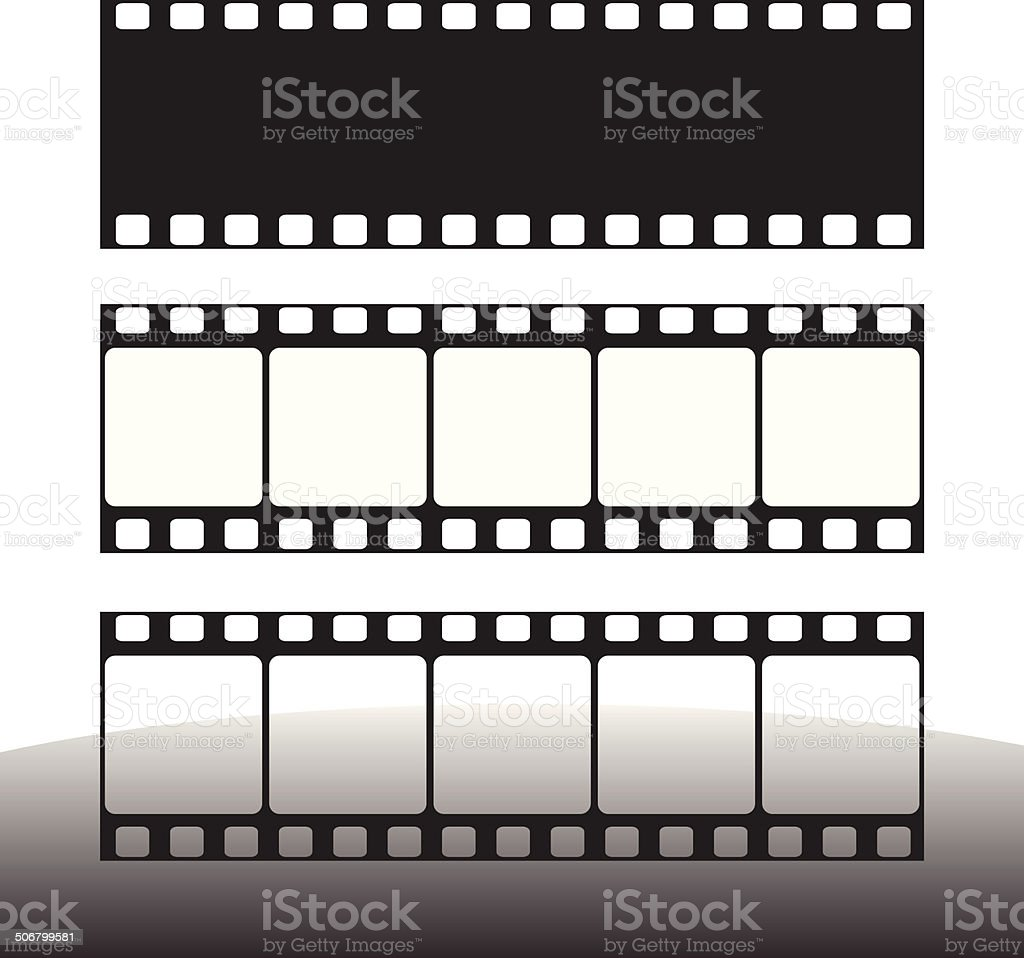 film strip vector illustration vector art illustration