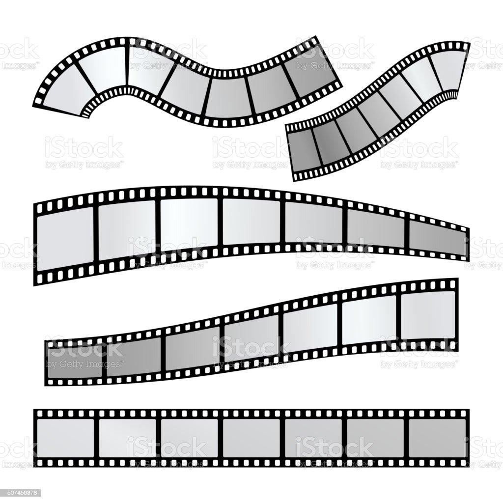 Film strip vector vector art illustration
