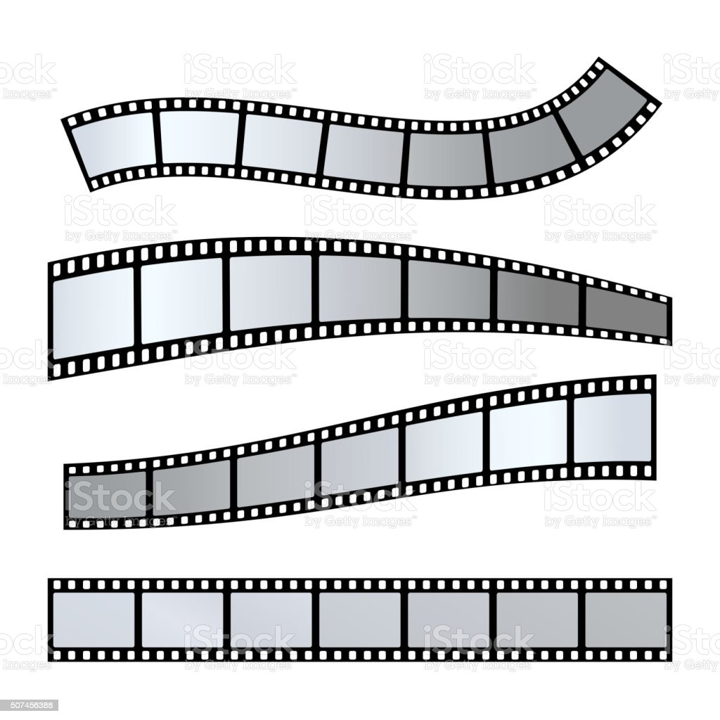 Film strip vector vector art illustration