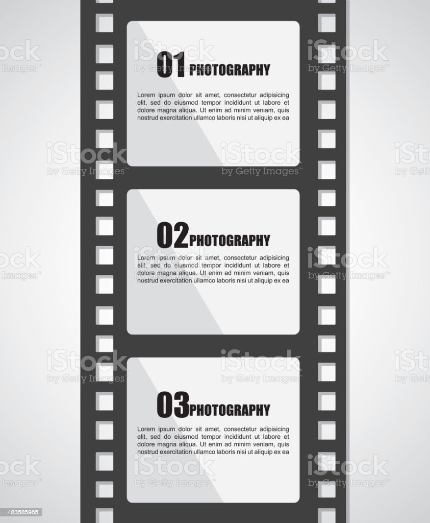 Film Stripe vector art illustration