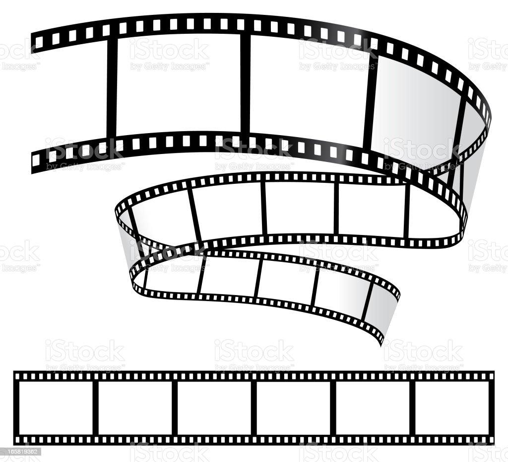 Film Strips on White vector art illustration