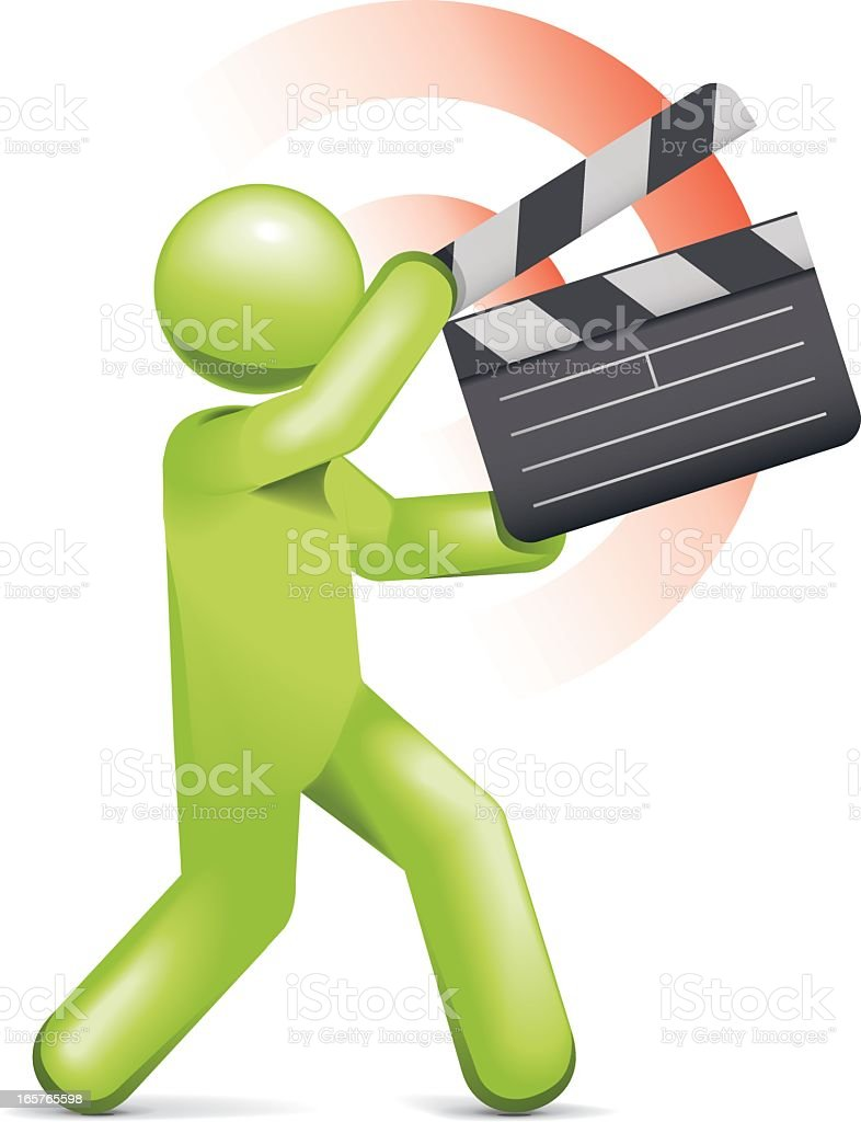 Filming Action royalty-free stock vector art