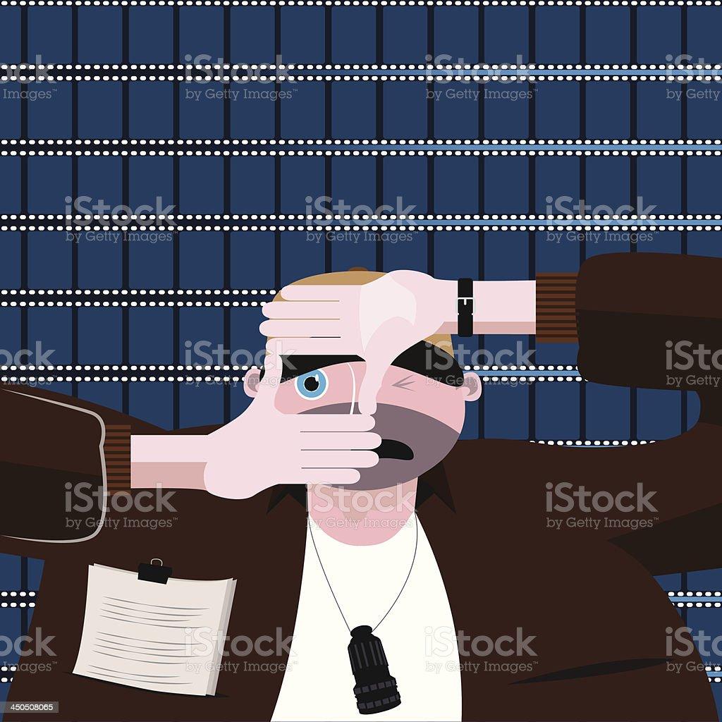 Filmmaker vector art illustration