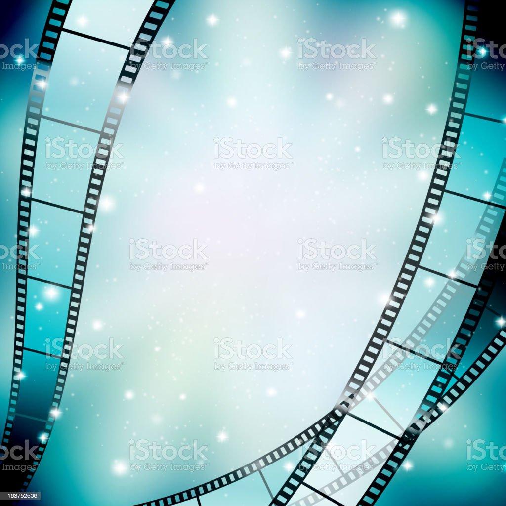 filmstrip background vector art illustration