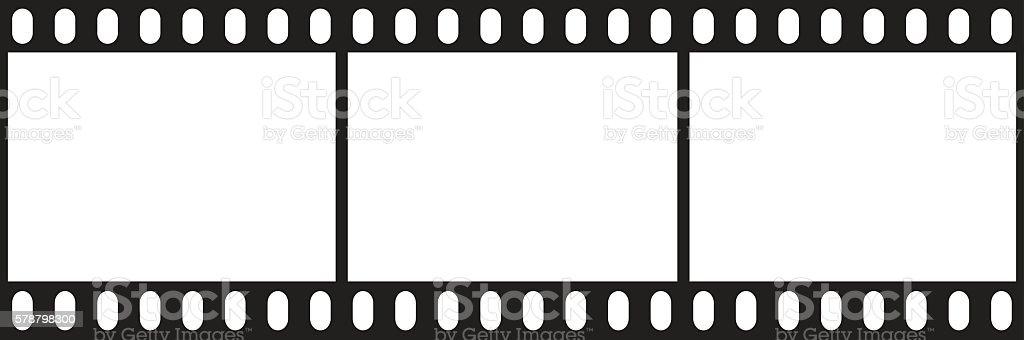 Filmstrip icon vector art illustration