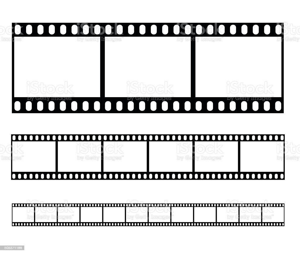 Filmstrip set illustration vector illustration vector art illustration