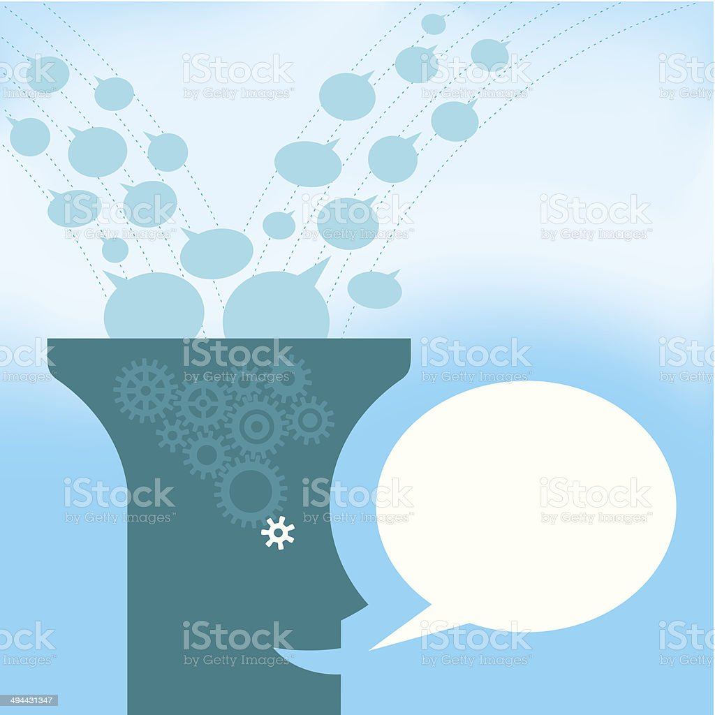 Filtrated Ideas vector art illustration