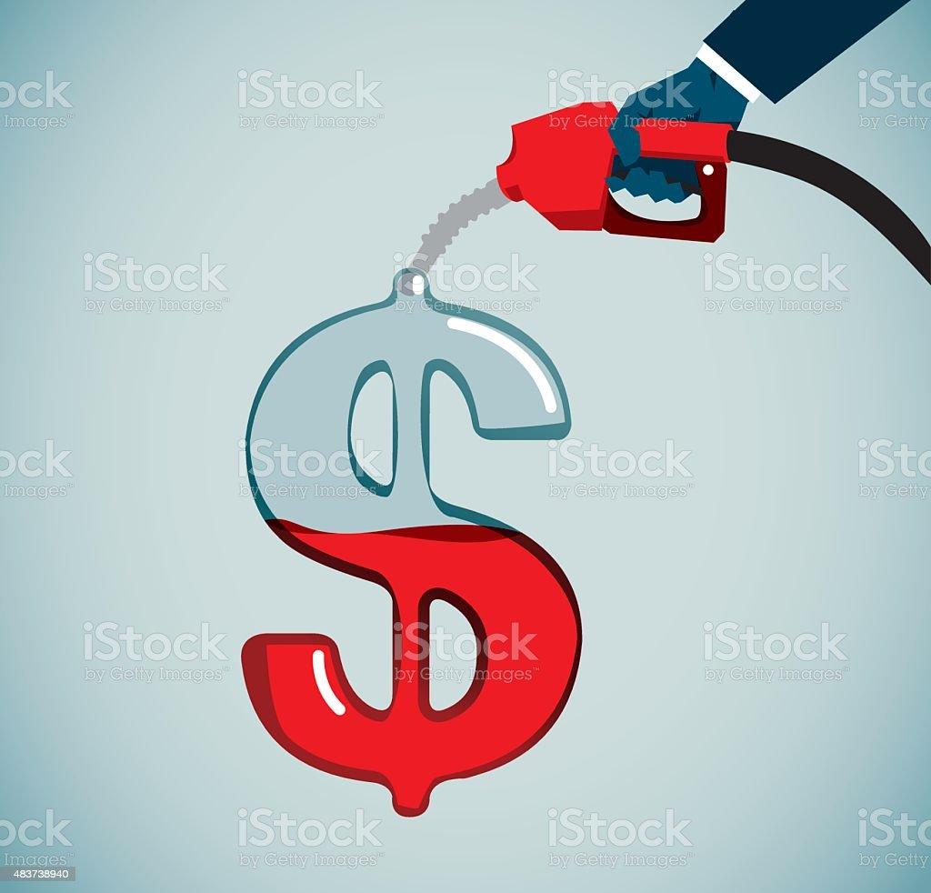 Finacial Investment vector art illustration