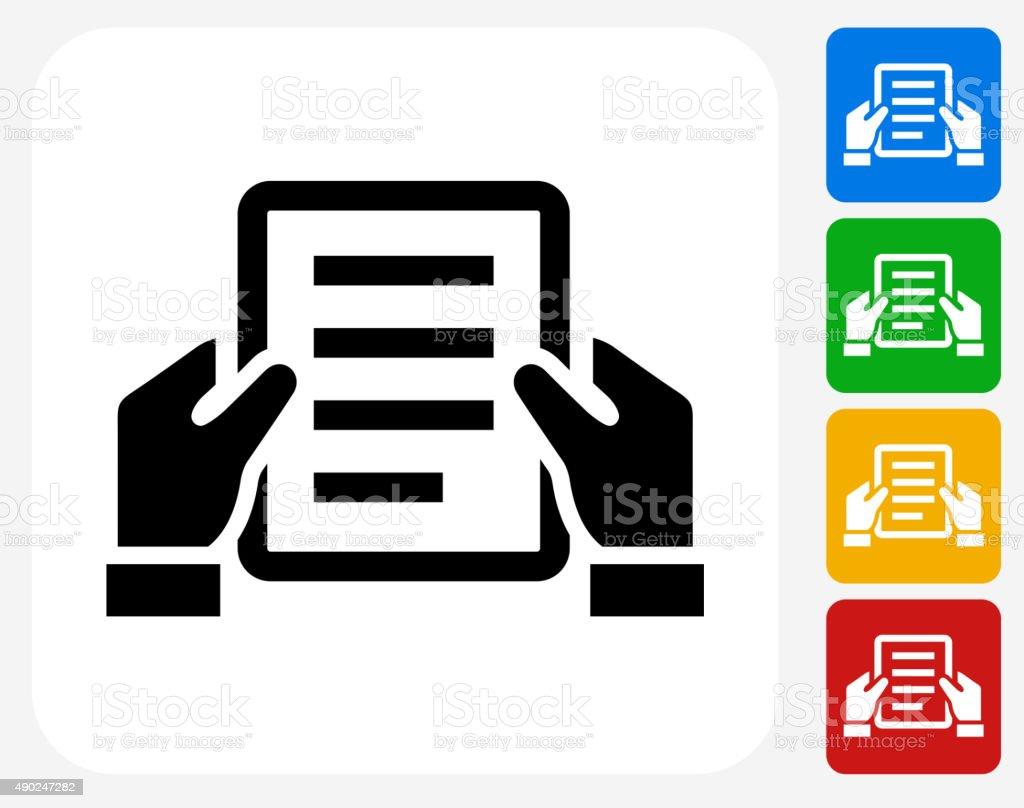 Final Document Icon Flat Graphic Design vector art illustration