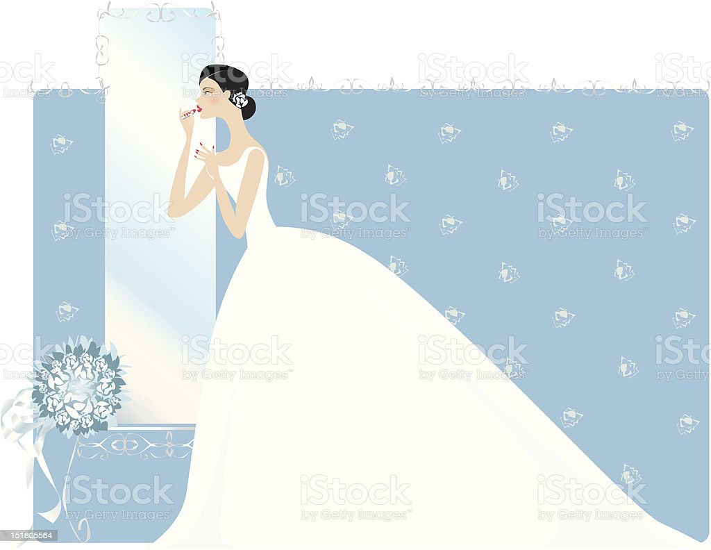 Final look before ceremony royalty-free stock vector art
