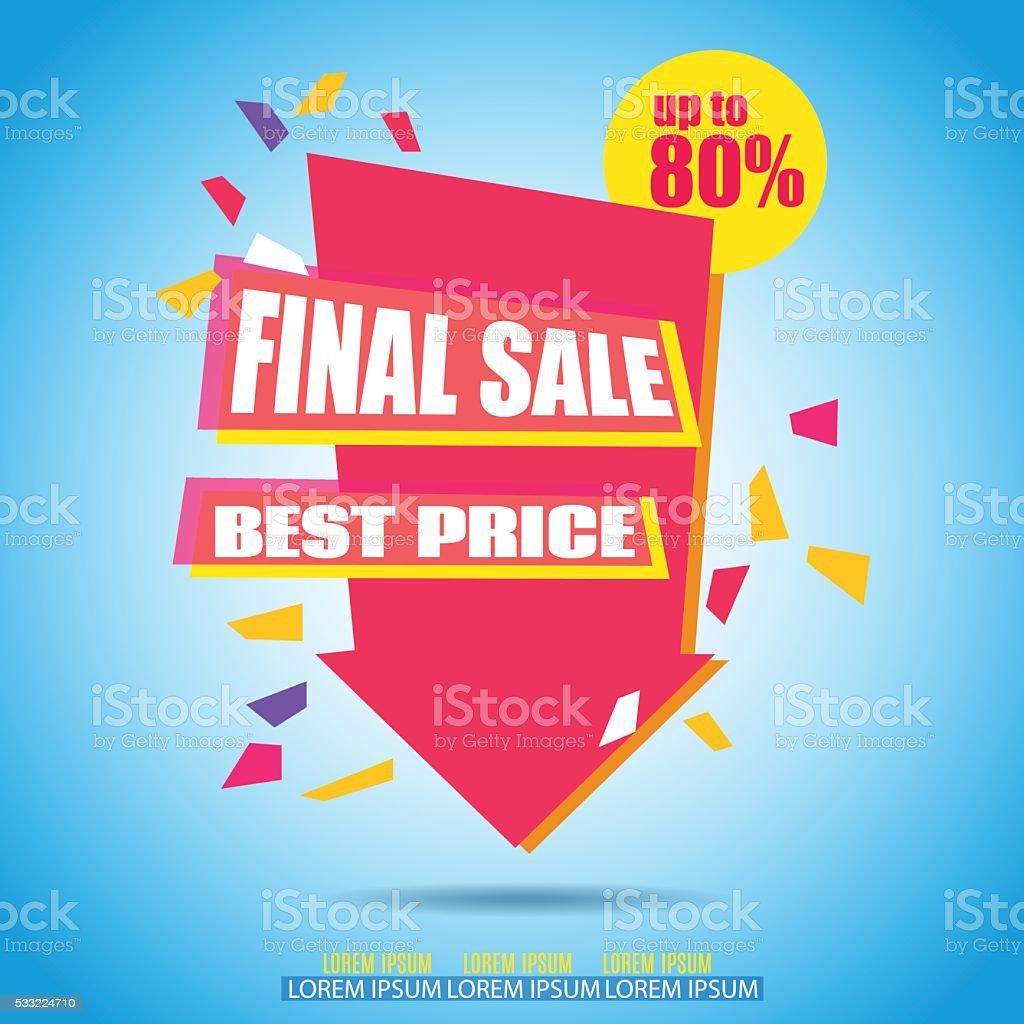 Final Sale Arrow Banner Design. vector art illustration