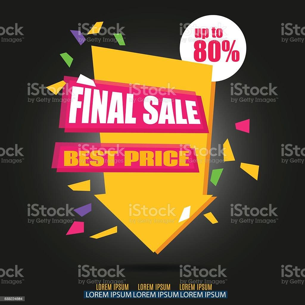 Final Sale Arrow Banner Design. Vector Sale Illustration vector art illustration