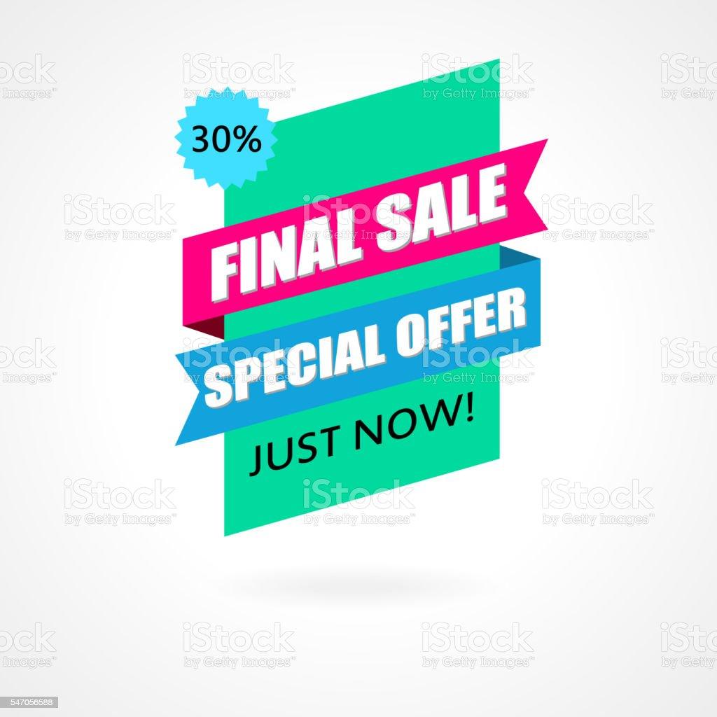 Final Sale banner, poster background. vector art illustration