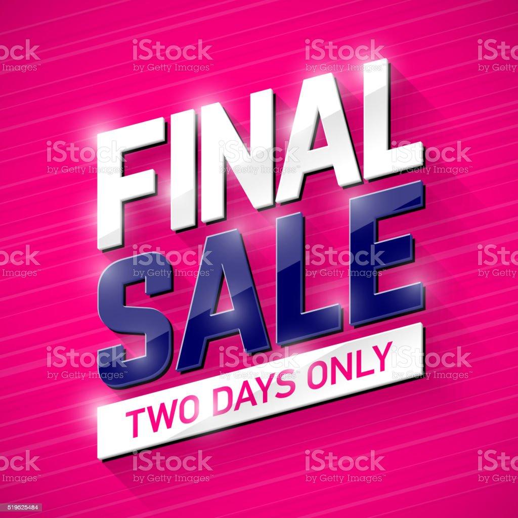Final Sale banner vector art illustration