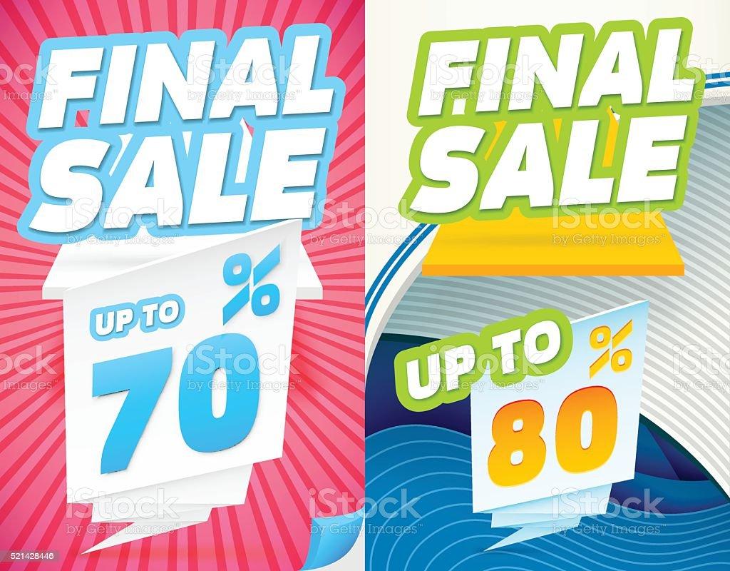 Final sale banners vector art illustration