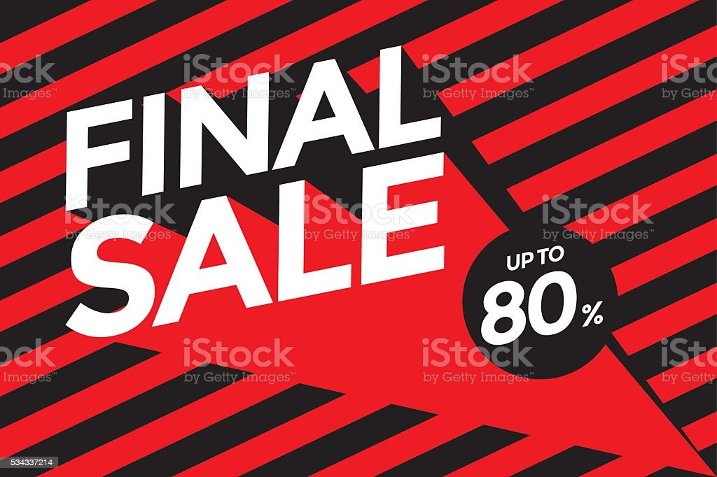 Final sale banner.Vector illustration vector art illustration