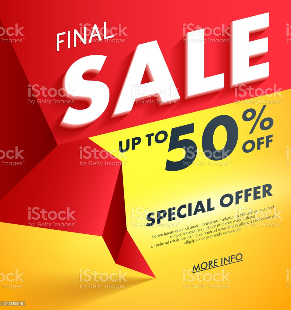 Final Sale offer poster banner vector illustration. vector art illustration