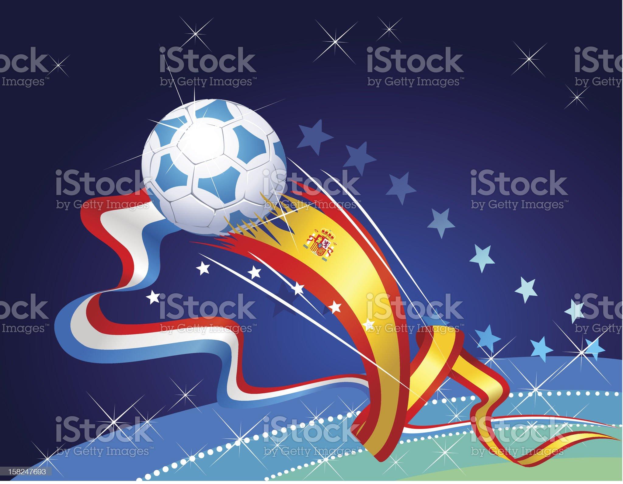 Final World cup soccer ball royalty-free stock vector art
