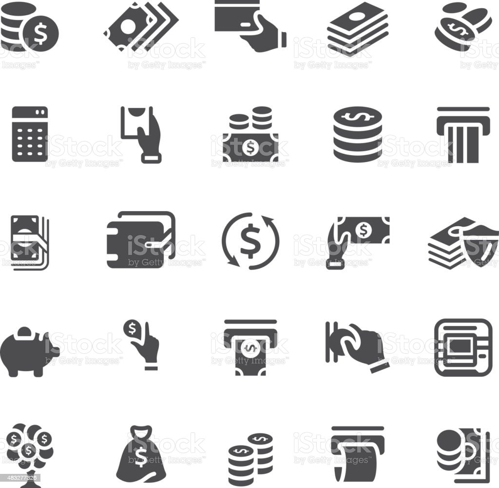 Finance and banking icons vector art illustration